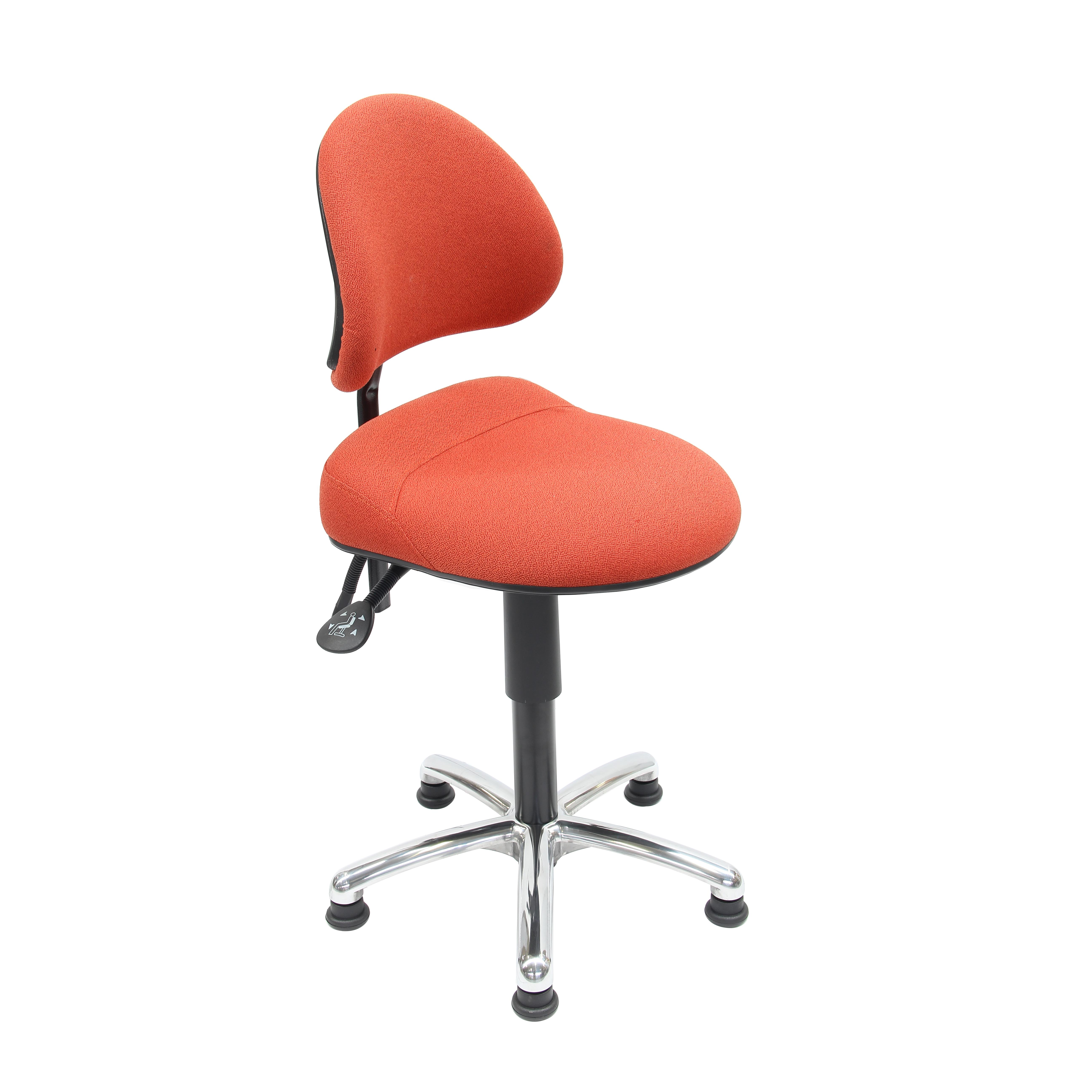 Siège assis et assis-debout ergonomique AURE de siegepro sur patins avec maintien sacro-lombaire