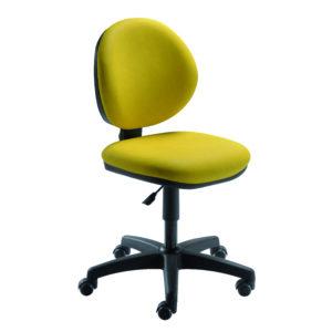 Siège ergonomique de travail BABETTE PRO de siegepro dossier contact permanent piètement polyamide noir