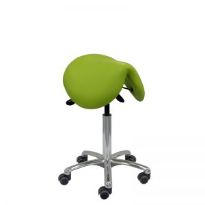 Tabouret greenery selle de cheval siegepro DAKOTA de siegepro assise large suspendue petit piètement