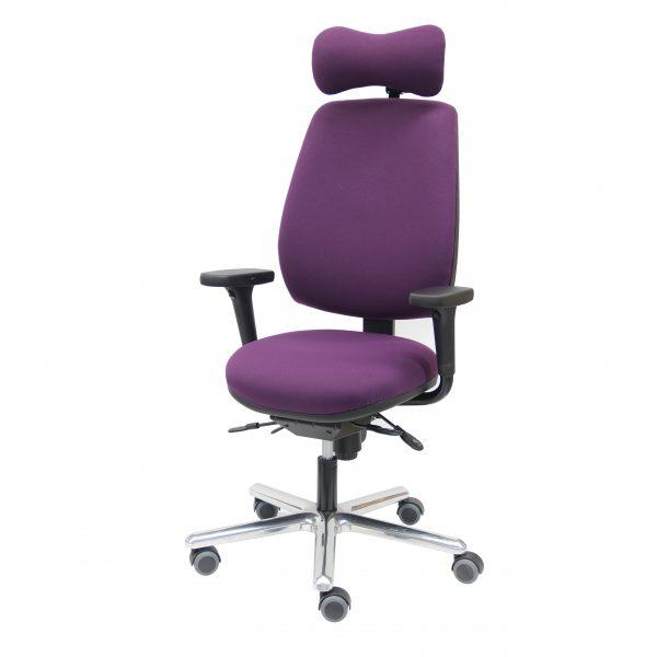 Fauteuil de travail ergonomique NORFOLK MEDIUM de KHOL confortable pour usage intensifd