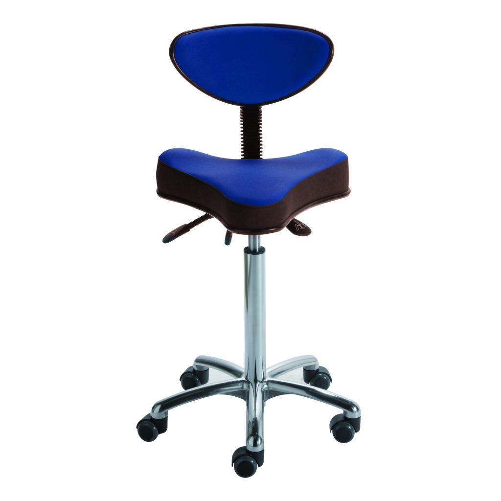 Siège assis-debout STORD de siegepro assise ergonomique triangle dossier demi-lune mécanisme asynchrone