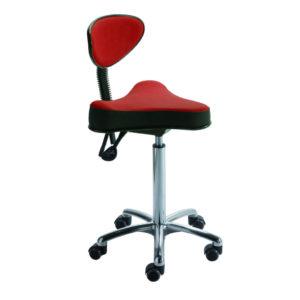 Assis-debout avec assise triangle STORD et dossier demi-lune de siegepro.com pour soulager le dos