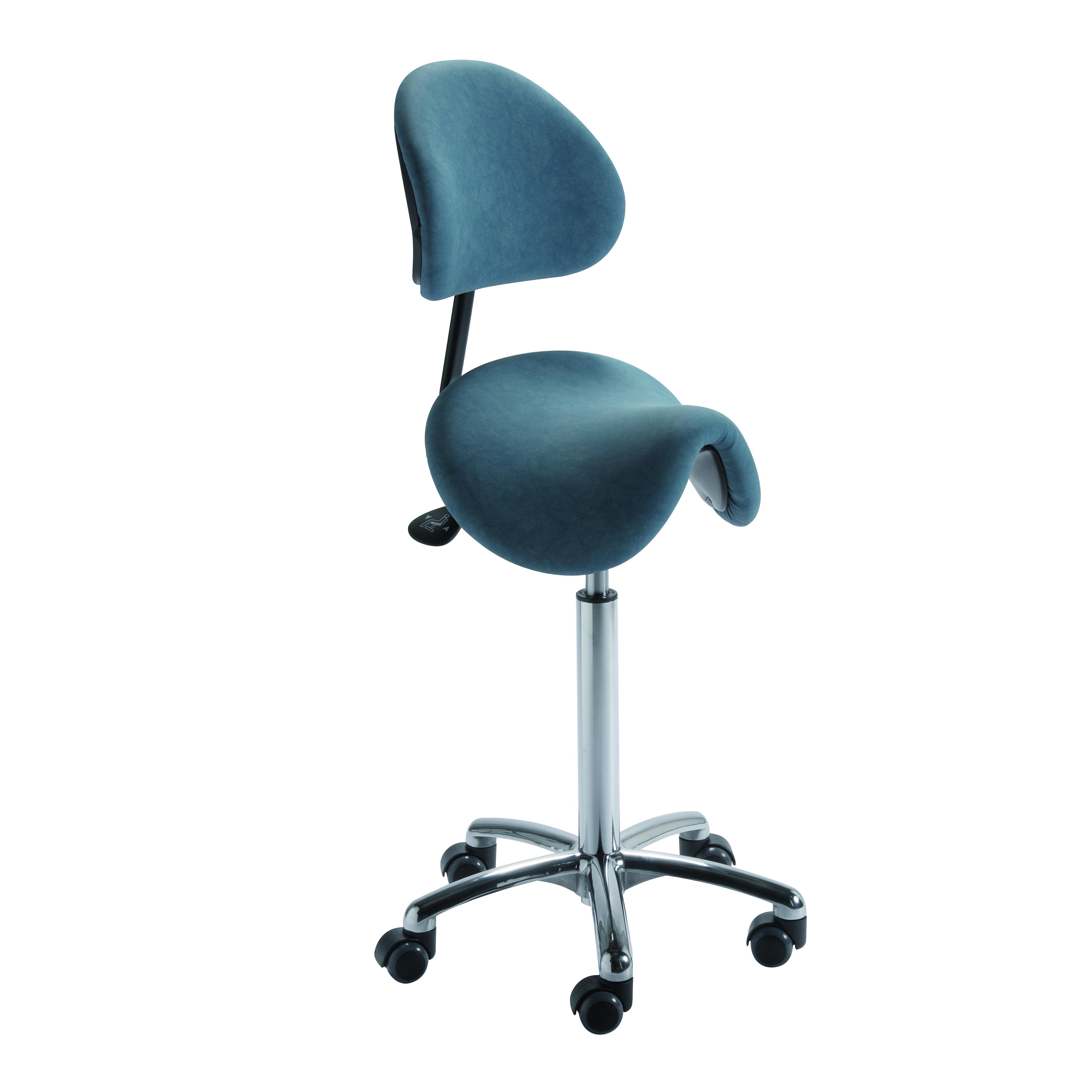Le siège selle de cheval ergonomique TORNADO de siegepro.com pour une liberté de mouvement au travail en toute sécurité