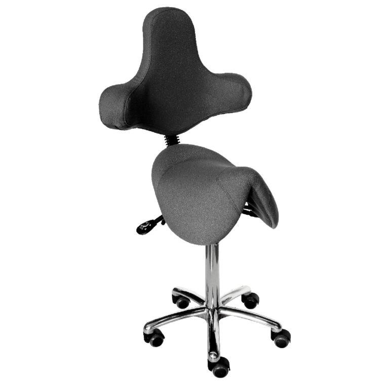 Le siège selle TEXAS asynchrone ergonomique grand confort est une innovation de siegepro.com avec sa selle large suspendue par ressorts et son dossier original avec accoudoirs intégrés