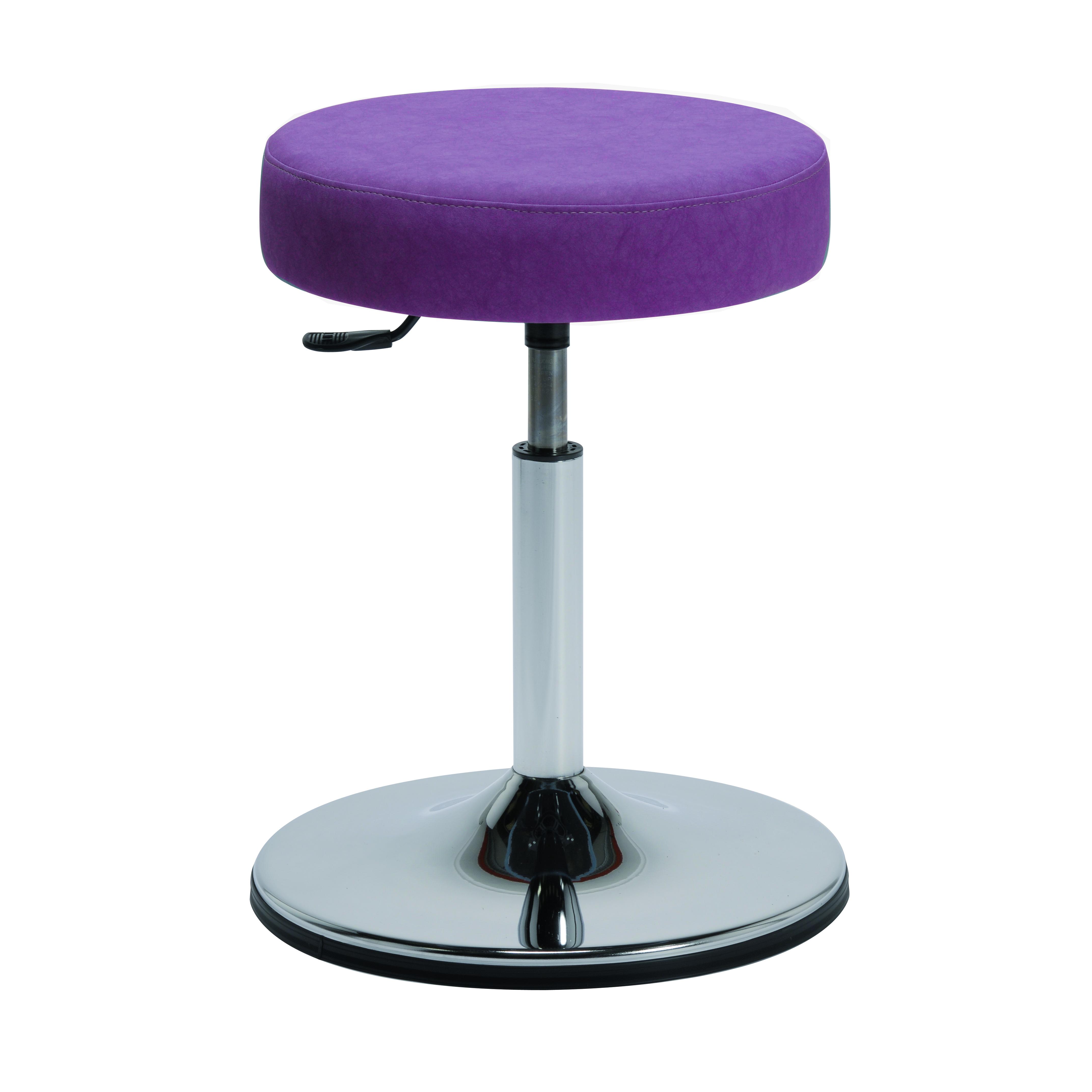 Le tabouret design ACTUAL de siegepro.com avec assise confort coloris prune et vérin bas