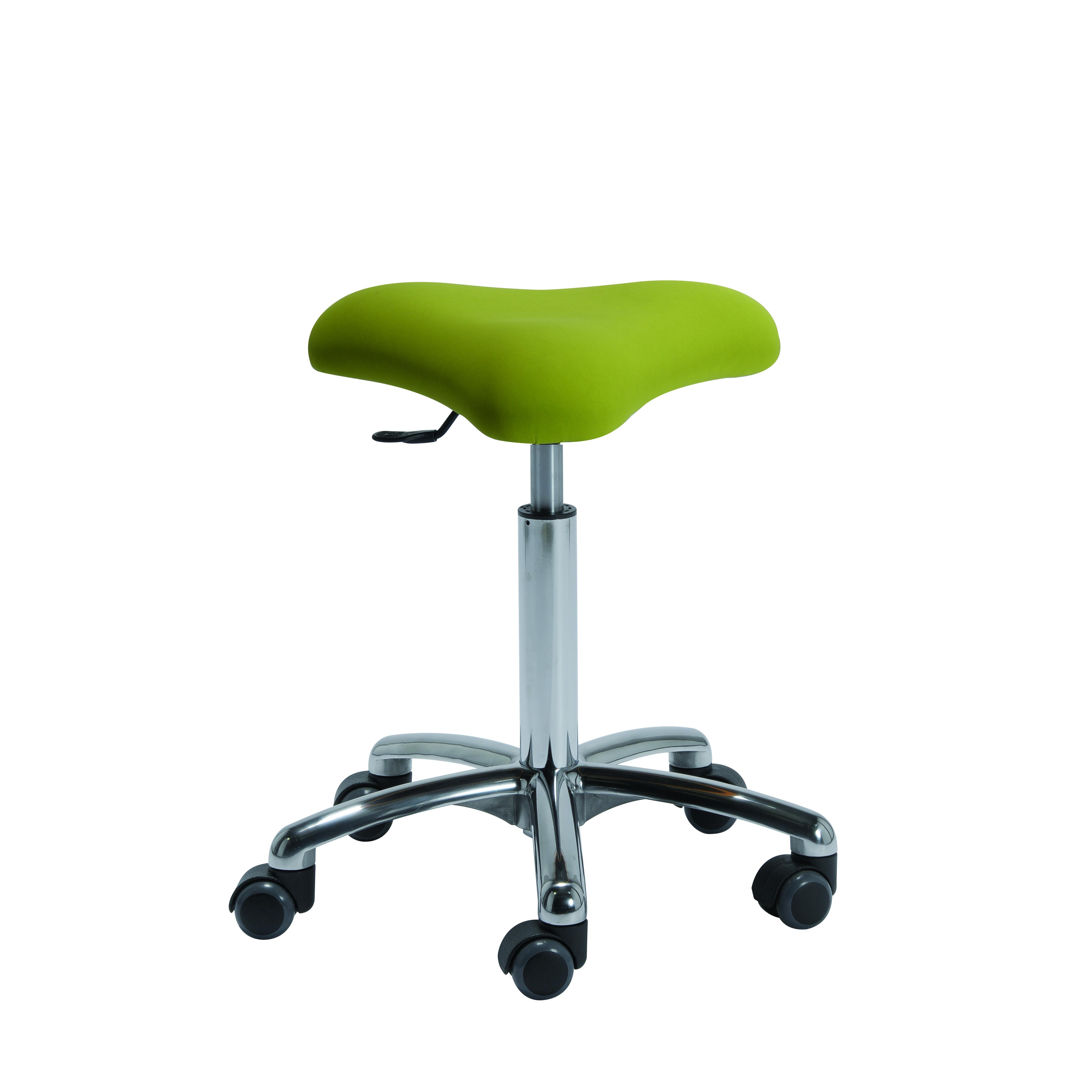 Le tabouret avec assise triangulaire THONON de siegepro.com conçu et fabriqué en France est une alternative originale à la selle de cheval