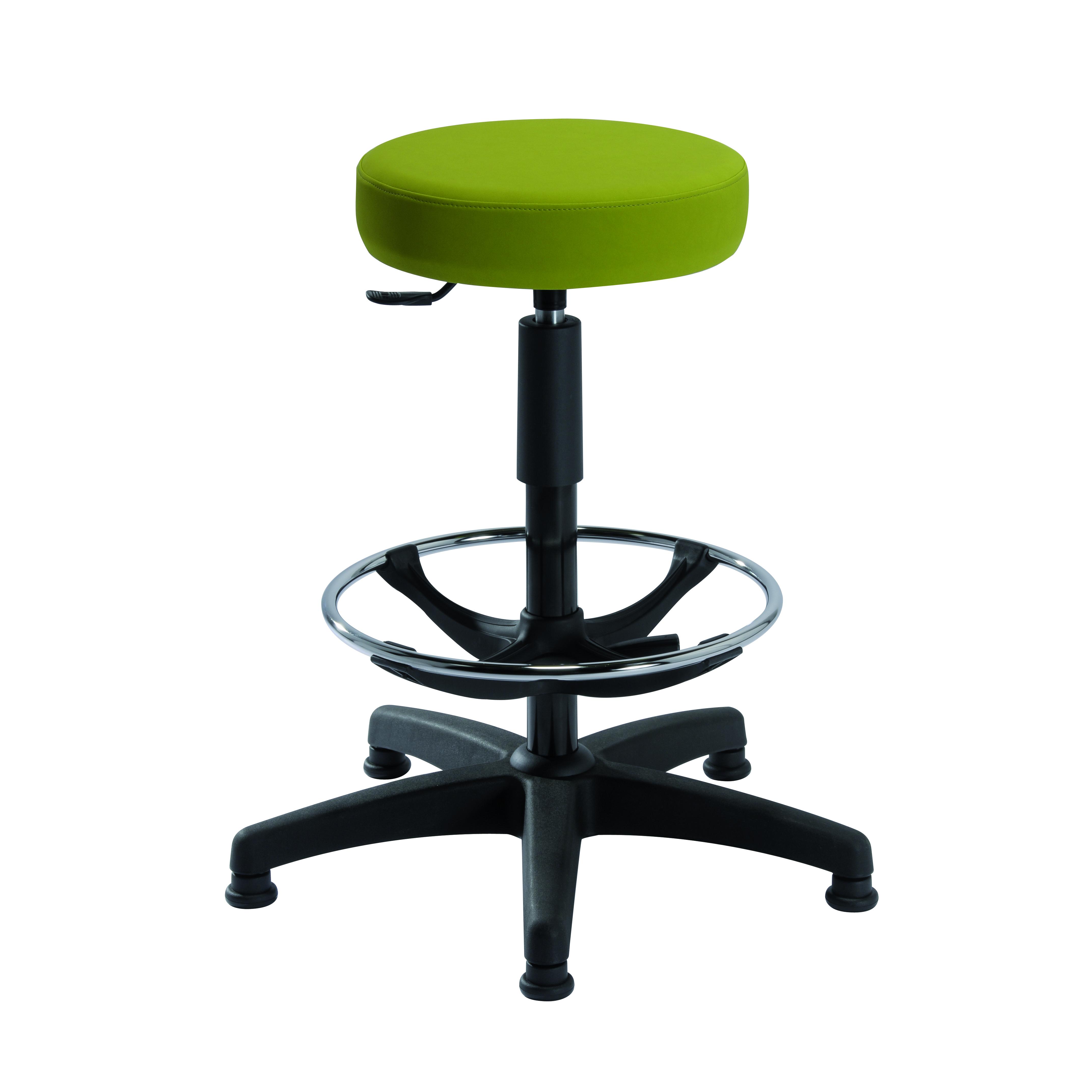 Tabouret TOURS avec repose-pieds de siegepro.com disponible avec une assise standard ou bien une assise confort