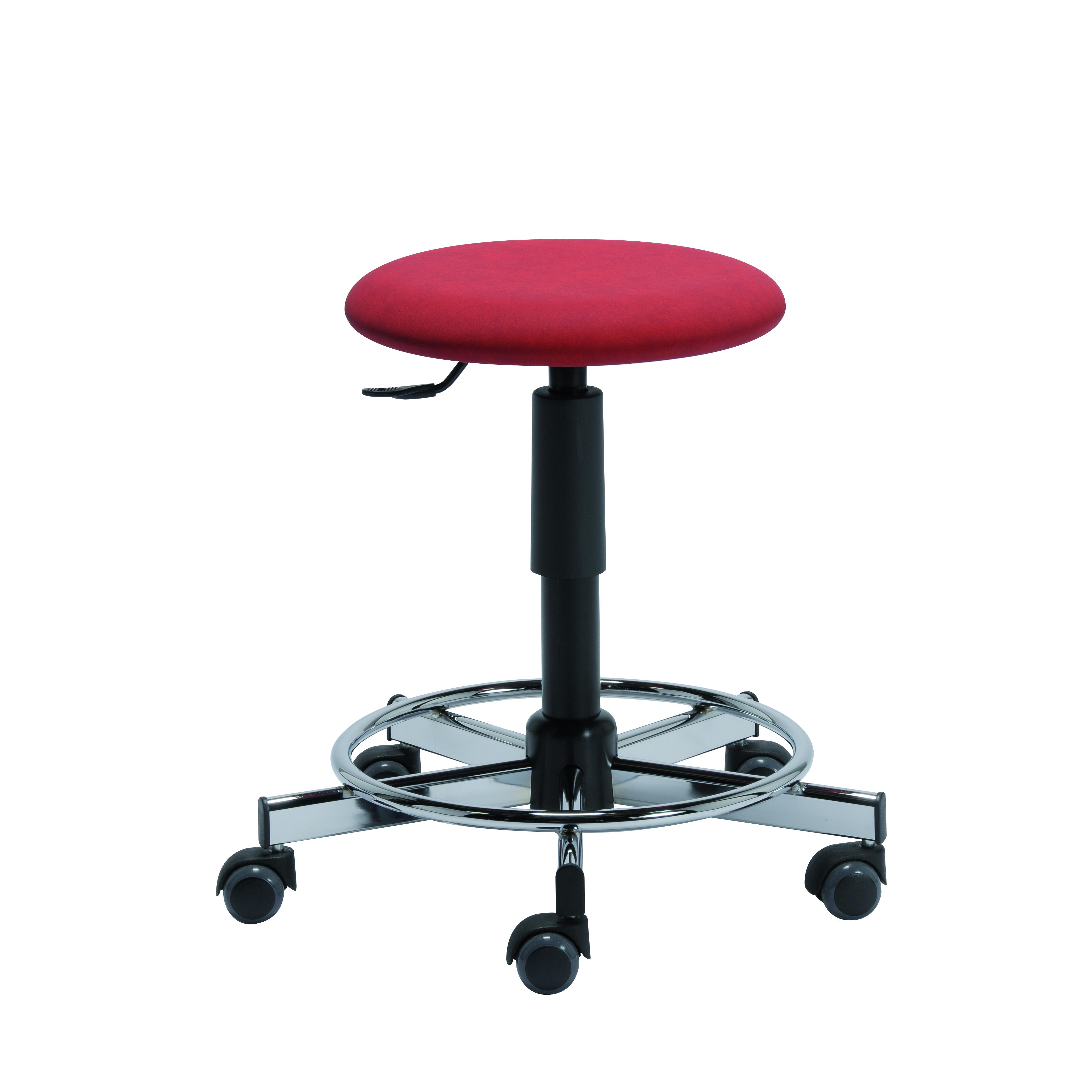 Le tabouret avec repose-pieds soudé TOUL de siegepro.com est disponible avec une assise standard ou confort