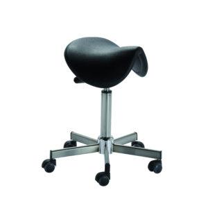 Le tabouret selle de cheval ergonomique IENA de siegepro.com est conçu pour les lieux de travail soumis à des exigences d'hygiène rigoureuses