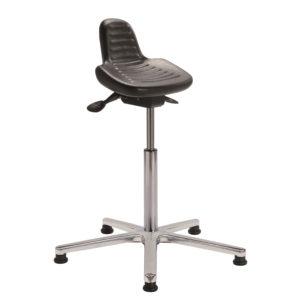 Assis-debout avec piètement aluminium poli PAINTEN ALU de siegepro.com