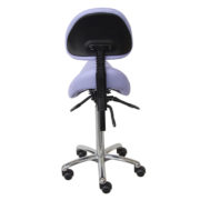 Le siège selle large IOWA de siegepro.com avec une mécanique asynchrone et une selle grand confort suspendue par ressorts vue de dos