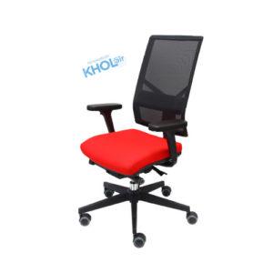 fauteuil avec dossier maille noire de travail de prévention