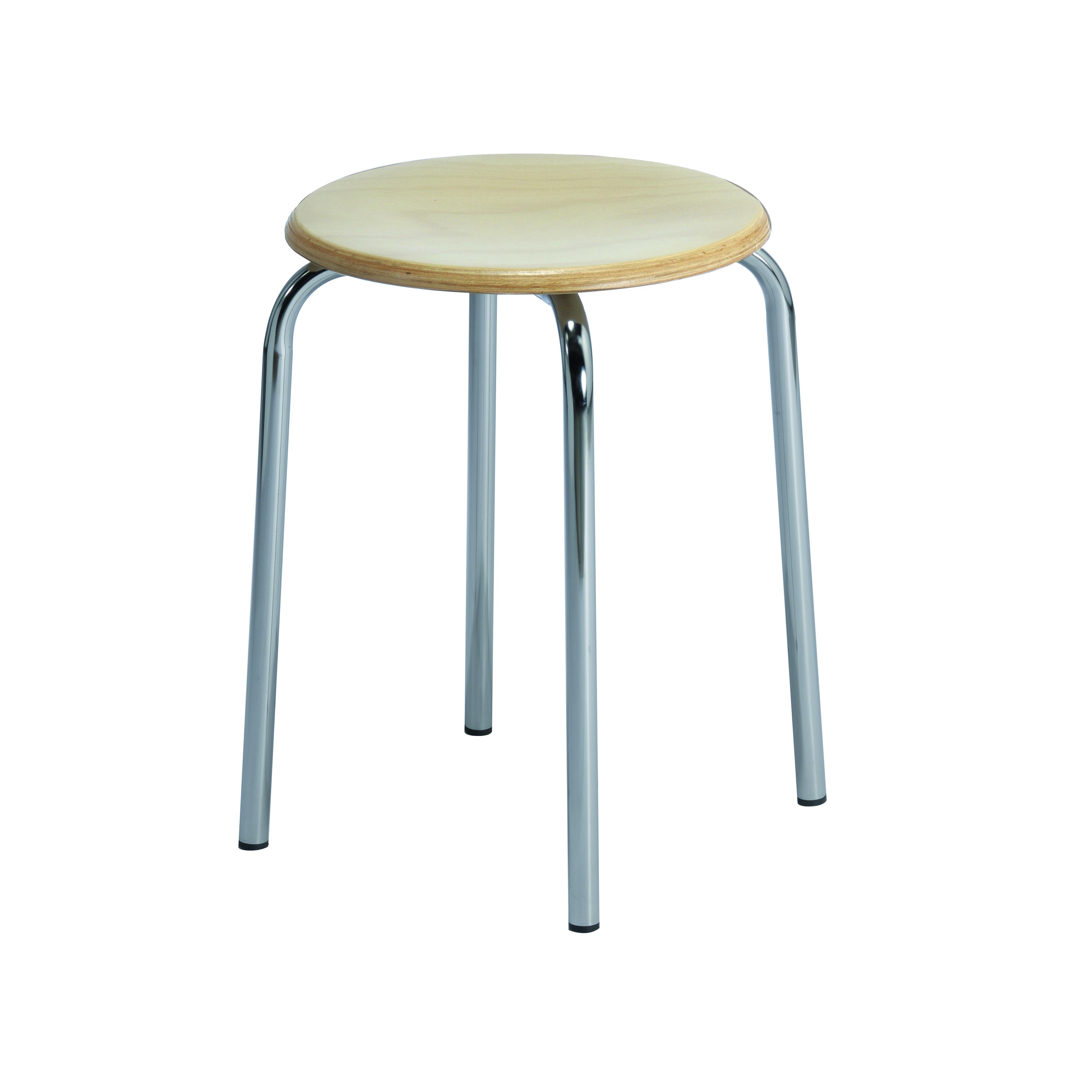 Tabouret 4 pieds assise bois AGEN de siegepro.com
