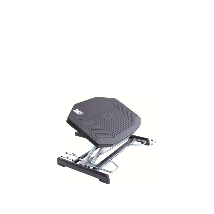Repose pieds ergonomique rp10 r glable en hauteur et en for Chaise ergonomique repose genoux