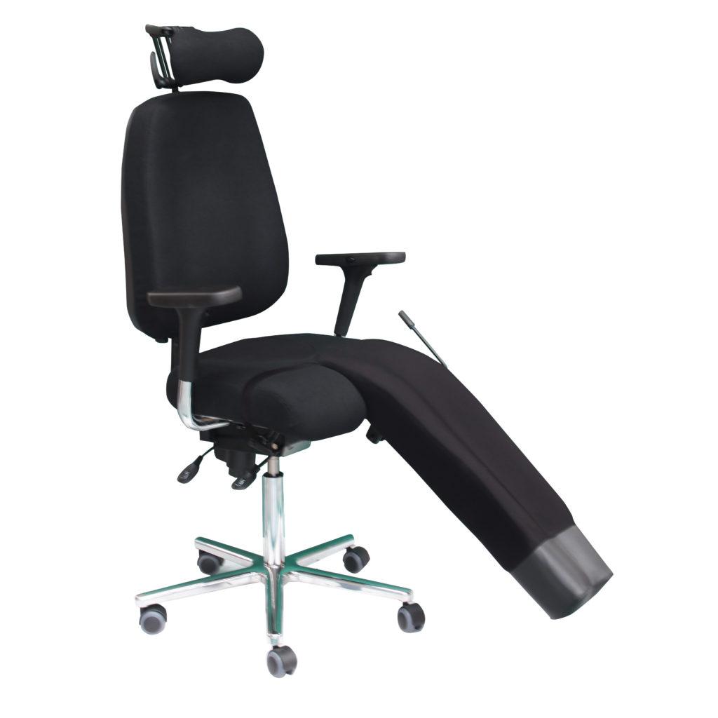 fauteuil ergonomique avec un appui jambe