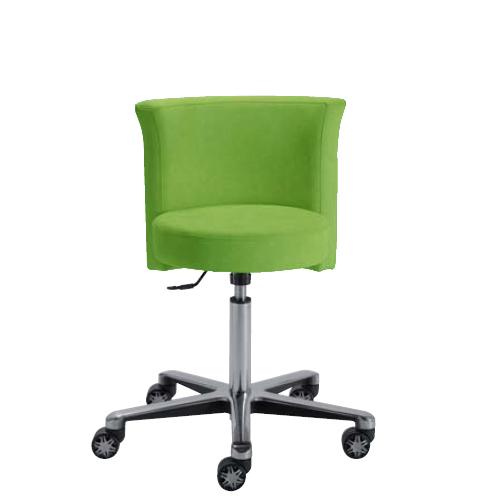 Siège design contemporain SALADIN de siegepro avec réglage de la hauteur d'assise par vérin chromé