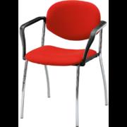 La chaise de bureau polyvalente MEETING 4 pieds avec accoudoirs de siegepro.com
